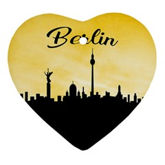 Berlin Heart Ornament (two Sides) by Valentinaart