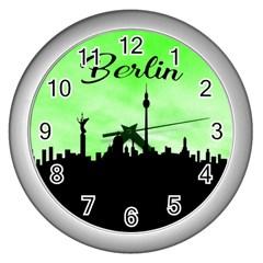 Berlin Wall Clocks (silver)  by Valentinaart