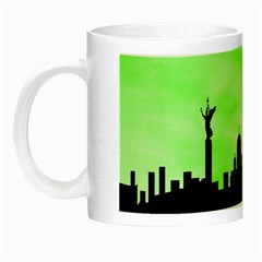 Berlin Night Luminous Mugs by Valentinaart