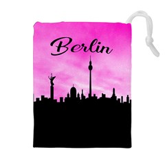 Berlin Drawstring Pouches (extra Large) by Valentinaart