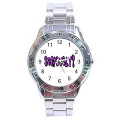 Seriously Stainless Steel Analogue Watch by Valentinaart