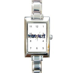 Seriously Rectangle Italian Charm Watch by Valentinaart