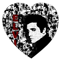 Elvis Presley Jigsaw Puzzle (heart) by Valentinaart
