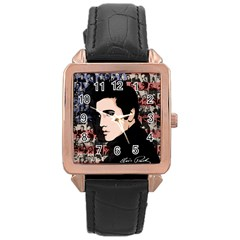 Elvis Presley Rose Gold Leather Watch  by Valentinaart