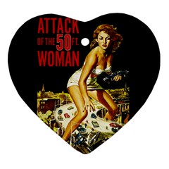 Attack Of The 50 Ft Woman Heart Ornament (two Sides) by Valentinaart