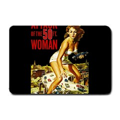 Attack Of The 50 Ft Woman Small Doormat  by Valentinaart