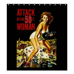 Attack Of The 50 Ft Woman Shower Curtain 66  X 72  (large)  by Valentinaart