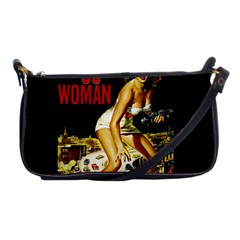 Attack Of The 50 Ft Woman Shoulder Clutch Bags by Valentinaart