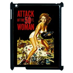 Attack Of The 50 Ft Woman Apple Ipad 2 Case (black) by Valentinaart