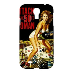 Attack Of The 50 Ft Woman Samsung Galaxy S4 I9500/i9505 Hardshell Case by Valentinaart