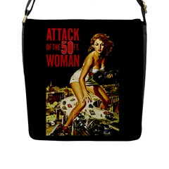 Attack Of The 50 Ft Woman Flap Messenger Bag (l)  by Valentinaart