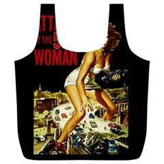 Attack Of The 50 Ft Woman Full Print Recycle Bags (l)  by Valentinaart