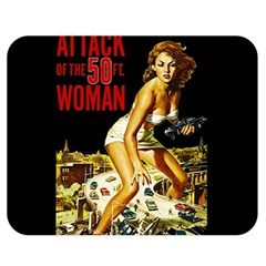 Attack Of The 50 Ft Woman Double Sided Flano Blanket (medium)  by Valentinaart