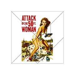 Attack Of The 50 Ft Woman Acrylic Tangram Puzzle (4  X 4 ) by Valentinaart