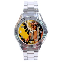 White Eagle Stainless Steel Analogue Watch by Valentinaart