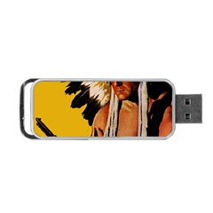 White Eagle Portable Usb Flash (one Side) by Valentinaart