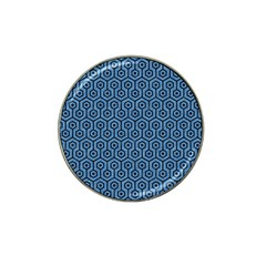 Hexagon1 Black Marble & Blue Colored Pencil (r) Hat Clip Ball Marker by trendistuff