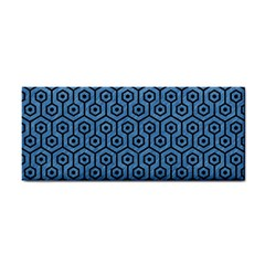 Hexagon1 Black Marble & Blue Colored Pencil (r) Hand Towel by trendistuff