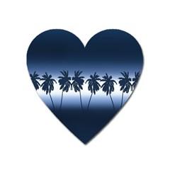Tropical Sunset Heart Magnet by Valentinaart