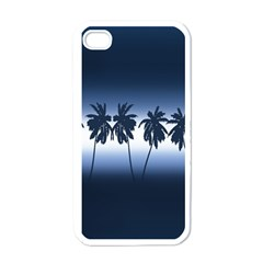 Tropical Sunset Apple Iphone 4 Case (white) by Valentinaart