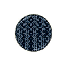 Hexagon1 Black Marble & Blue Colored Pencil Hat Clip Ball Marker by trendistuff