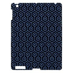 Hexagon1 Black Marble & Blue Colored Pencil Apple Ipad 3/4 Hardshell Case by trendistuff