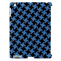 Houndstooth2 Black Marble & Blue Colored Pencil Apple Ipad 3/4 Hardshell Case (compatible With Smart Cover) by trendistuff