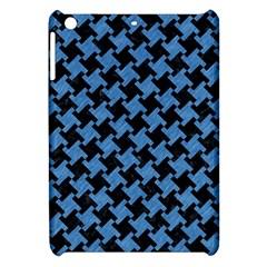 Houndstooth2 Black Marble & Blue Colored Pencil Apple Ipad Mini Hardshell Case by trendistuff
