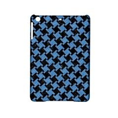 Houndstooth2 Black Marble & Blue Colored Pencil Apple Ipad Mini 2 Hardshell Case by trendistuff