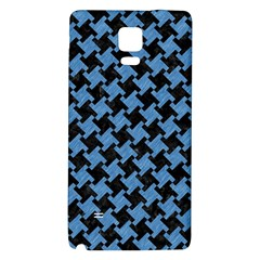 Houndstooth2 Black Marble & Blue Colored Pencil Samsung Note 4 Hardshell Back Case by trendistuff