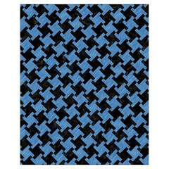 Houndstooth2 Black Marble & Blue Colored Pencil Drawstring Bag (small) by trendistuff