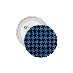 Houndstooth1 Black Marble & Blue Colored Pencil 1 75  Button by trendistuff
