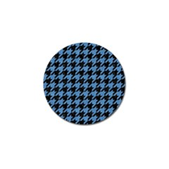 Houndstooth1 Black Marble & Blue Colored Pencil Golf Ball Marker (10 Pack) by trendistuff