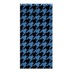 Houndstooth1 Black Marble & Blue Colored Pencil Shower Curtain 36  X 72  (stall) by trendistuff