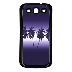 Tropical Sunset Samsung Galaxy S3 Back Case (black) by Valentinaart