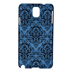 Damask1 Black Marble & Blue Colored Pencil (r) Samsung Galaxy Note 3 N9005 Hardshell Case by trendistuff