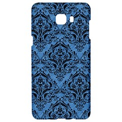Damask1 Black Marble & Blue Colored Pencil (r) Samsung C9 Pro Hardshell Case  by trendistuff