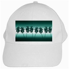 Tropical Sunset White Cap by Valentinaart