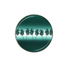 Tropical Sunset Hat Clip Ball Marker by Valentinaart