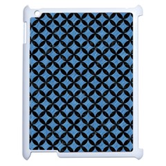 Circles3 Black Marble & Blue Colored Pencil (r) Apple Ipad 2 Case (white) by trendistuff