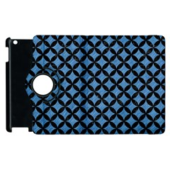 Circles3 Black Marble & Blue Colored Pencil (r) Apple Ipad 2 Flip 360 Case by trendistuff
