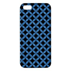 Circles3 Black Marble & Blue Colored Pencil Iphone 5s/ Se Premium Hardshell Case by trendistuff