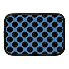 Circles2 Black Marble & Blue Colored Pencil (r) Netbook Case (medium) by trendistuff