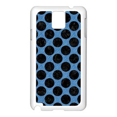 Circles2 Black Marble & Blue Colored Pencil (r) Samsung Galaxy Note 3 N9005 Case (white) by trendistuff