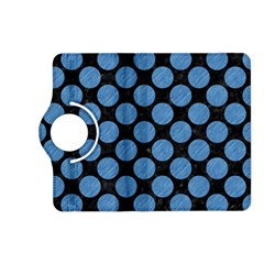 Circles2 Black Marble & Blue Colored Pencil Kindle Fire Hd (2013) Flip 360 Case by trendistuff