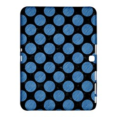 Circles2 Black Marble & Blue Colored Pencil Samsung Galaxy Tab 4 (10 1 ) Hardshell Case  by trendistuff