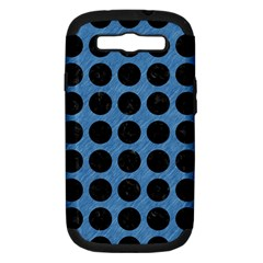 Circles1 Black Marble & Blue Colored Pencil (r) Samsung Galaxy S Iii Hardshell Case (pc+silicone) by trendistuff