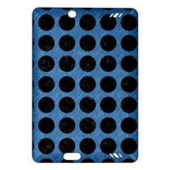 Circles1 Black Marble & Blue Colored Pencil (r) Amazon Kindle Fire Hd (2013) Hardshell Case by trendistuff