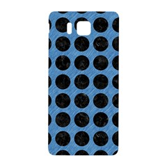 Circles1 Black Marble & Blue Colored Pencil (r) Samsung Galaxy Alpha Hardshell Back Case by trendistuff