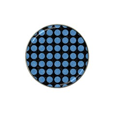 Circles1 Black Marble & Blue Colored Pencil Hat Clip Ball Marker by trendistuff